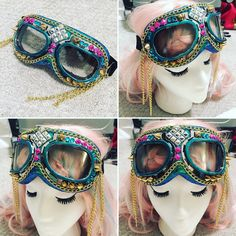 Burning Man Goggles, Aviator goggles. Anti-Dust Goggles.rave wear