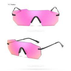 d9a33c09ea Oversized Sunglasses Men Women Brand Designer Retro Metal Vintage Sun  glasses Fashion Coating Lens Glasses Lady Siamese Eyewear