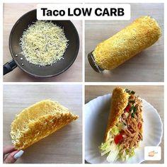Essa receita é  para os amantes da dieta Low Carb trouxe esse Taco  MARAVILHOSO Carbohydrates Food List, Tacos, Food Lists, Allrecipes, Low Carb Recipes, Health Fitness, Keto, Healthy, Ethnic Recipes