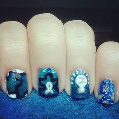 Light it up Blue Autism Nails by TenTinyCanvases - Nail Art Gallery nailartgallery.nailsmag.com by Nails Magazine www.nailsmag.com #nailart