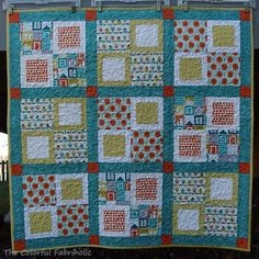 The Colorful Fabriholic: Welcome Home - cute & simple baby quilt