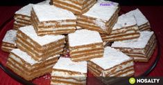 Hungarian Desserts, Hungarian Recipes, European Dishes, Cake Cookies, Tiramisu, Dessert Recipes, Sweets, Baking, Ethnic Recipes