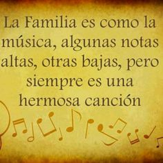 Family is like music. Real Life Quotes, Mom Quotes, Family Quotes, Best Quotes, Jolie Phrase, Quotes En Espanol, Healing Words, Vinyl Quotes, Spanish Quotes