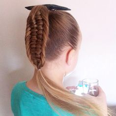 Fourstrand fishtail ponytail