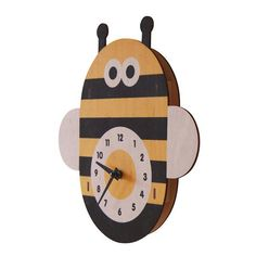 "SALE 40% OFF + FREE Shipping on this product! Look at these BEEDORABLE clocks! ModMoose designs these sweet little clocks to adorn your kids rooms...or your garden shed, craft room, classroom, etc.    3D wall clock original design by Paul Ocepek quartz movement NO assembly required approx 11.2""W x 11.5""H x 1""D 1/8"" thick laser cut baltic birch plywood printed with non-toxic water-based inks pre-drilled hole for easy hanging made in massachusetts, usa Quartz Movement 1 AA Battery Required…"