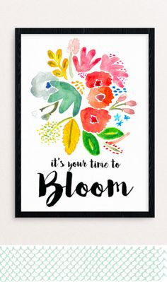 Beautiful free printable just in time for spring.