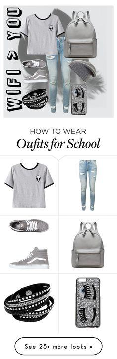 """Tumblr, Casual School Outfit"" by mackmurph on Polyvore featuring Off-White, Chicnova Fashion, Vans, BCBGMAXAZRIA and Chiara Ferragni"