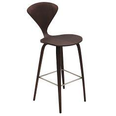 Satine Bar Stool Dark Walnut | Modern Digs Furniture