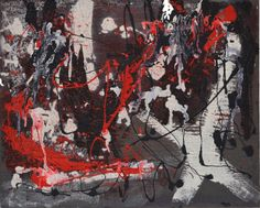 Red, Black and White: Becker Beste No. 98, modern colorist painting, abstract expressionist art, acrylic painting, Berlin Art, home decor