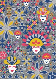 Philippine Festivals by Nico Lopez, via Behance Masskara Festival, Sinulog Festival, Tribal Pattern Art, Cultural Patterns, Filipino Art, Philippine Art, Philippines Culture, Landscape And Urbanism, Calendar Design