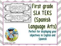*** CHEVRON***Bilingual First grade SLA TEKS in English an