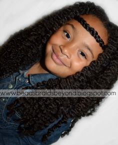 natural hair - cute little girl style! I could so do this to my sister's hair!