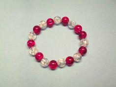 Red & White Stretch Bracelet