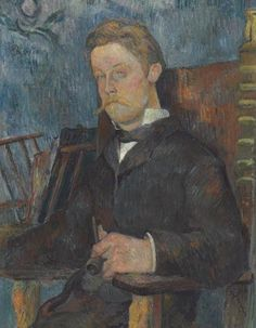 Portrait of a Seated Man by Paul Gauguin in oil on canvas, done in Now in a private collection. Find a fine art print of this Paul Gauguin painting. Paul Gauguin, Vincent Van Gogh, Oil Canvas, Impressionist Artists, Art Moderne, Henri Matisse, French Art, Pablo Picasso, A4 Poster