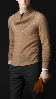 Burberry - Cashmere Shawl Collar Sweater