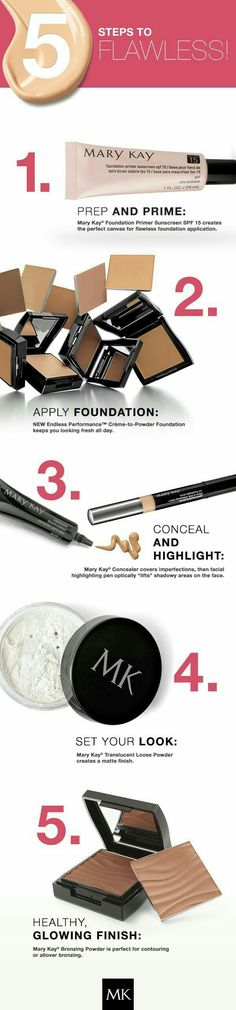 Mary Kay 5 steps to flawless Try before you buy 💖 Mary Kay Skin Care and Beauty Consultant - Nivedita (110942AU) Email: ubeautimarykay@gmail.com