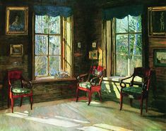 Spring Sunshine Stanislav Zhukovsky - 1913A. A. Bakhrushin State Theatrical Museum  (Russian Federation - Moscow