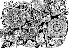Botanical Zentangle art by Noah's ART