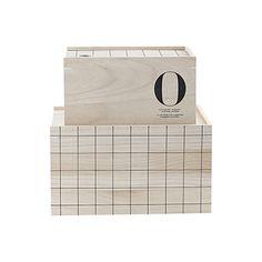 set houten opbergdozen grid house doctor