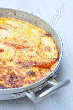 Gratin de potimarron rôti, à l'emmental et au parmesan - Dans la cuisine d'Audinette