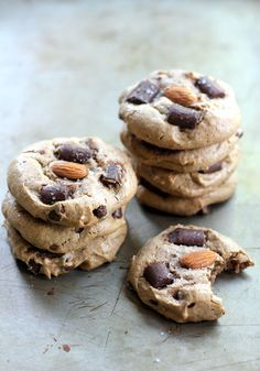 Soft and chewy almond butter cookies with the perfect sweet and salty notes. Flourless and gluten free, too!