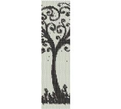 Tree of Life Peyote Pattern Beaded Bracelet Cuff by Lorelaishop, $6.50