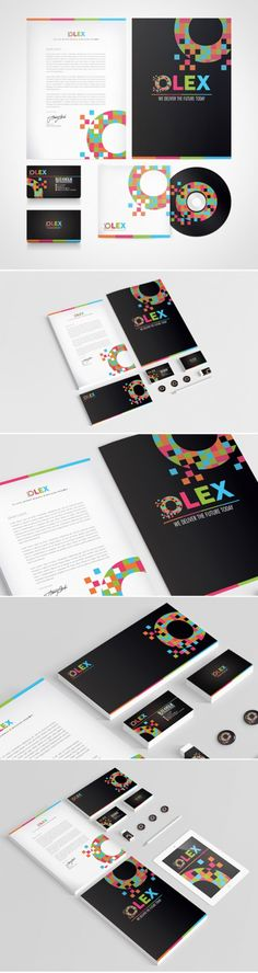 OLEX #Branding, #Backage #Design, #Blue, #Business #Card, #Colorful, #Graphic, #Green, #Logo, #Pink, #Print, #Stationary, #Typography