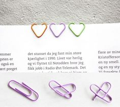 DIY: heart-shaped paper clips