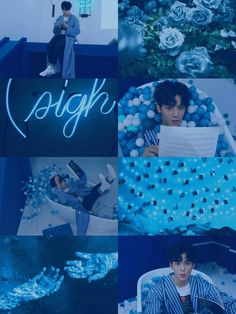 Astro App, Cha Eunwoo Astro, Cute Blue Wallpaper, Astro Wallpaper, Black And White Picture Wall, Black And White Pictures, Member Astro, Cha Eun Woo, Blue Wallpapers