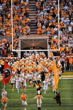 Best tradition in college football! Running through the T! ~ Check this out too ~ RollTideWarEagle.com sports stories that inform and entertain and Train Deck to learn the rules of the game you love. #Collegefootball Let us know what you think. #UT #Vols