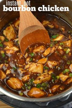 From start to finish, this easy Instant Pot Bourbon Chicken Recipe is ready in under 30 minutes! Packed with flavor, it's faster than going to the mall to pick up a plate of this dish! Best Instant Pot Recipe, Instant Pot Dinner Recipes, Chicken Breast Instant Pot Recipes, Recipes Dinner, Instant Pot Pressure Cooker, Pressure Cooker Recipes, Crockpot Recipes, Cooking Recipes, Healthy Recipes