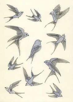 Different sparrow tattoo ideas