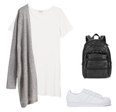 """""""Untitled #25"""" by bangtancuties on Polyvore featuring Monki, adidas Originals and Marc by Marc Jacobs"""