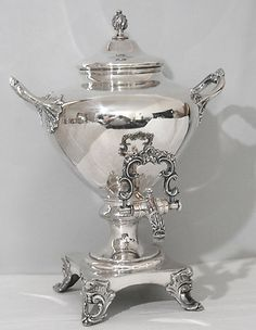 silver hot water urns | ... 19th c Antique English Silverplate Samovar / Hot Water Urn Completed