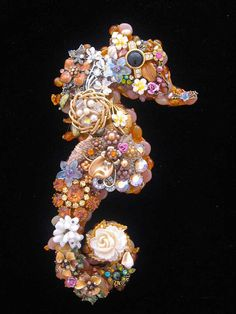 Seahorse  Vintage Jewelry Art  Jeweled by ArtCreationsByCJ on Etsy