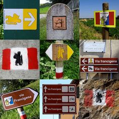 Via-Francigena-Signposts-In-Italy-2012 - Via Francigena - Wikipedia