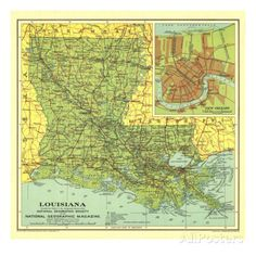 Louisiana Map Adjustable Metal Cuff Bracelet Metals and Products