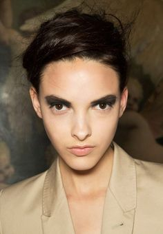 BlackSmokey eye MakeupTrend for Spring Summer 2013.  A.F. Vandevorst Spring Summer 2013.     #makeup  #trends