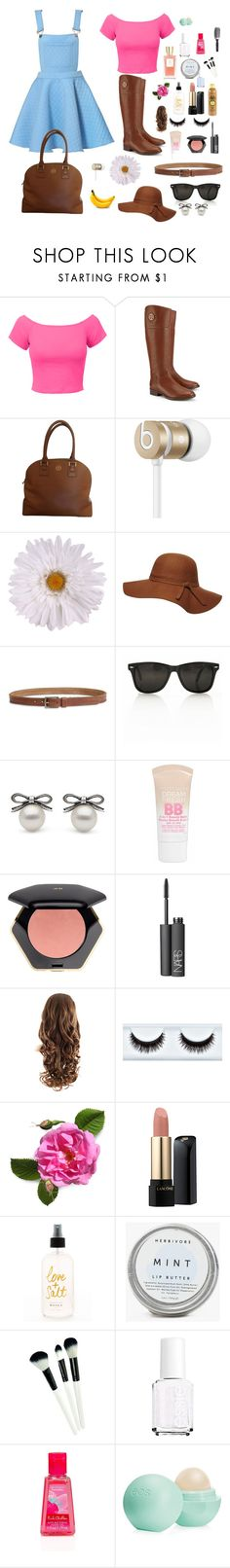 """A Day in the Park"" by kyra-rose-freeman ❤ liked on Polyvore featuring LE3NO, Tory Burch, Beats by Dr. Dre, Dorothy Perkins, Lucky Brand, Maybelline, H&M, NARS Cosmetics, Sun Bum and Lancôme"