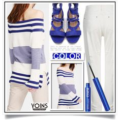 Yoins XIV/9 by ewa-naukowicz-wojcik on Polyvore featuring moda, yoins…