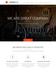 This one page Joomla template features parallax headers, a ...