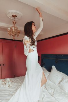 Sunsets forever long sleeve wedding dress sarah seven