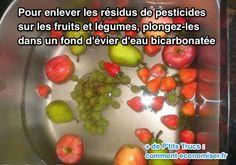 Marre de manger des pesticides dans les fruits et légumes ? Vous n'êtes pas le seul ! Malheureusement le bio, ce n'est pas donné ! Heureusement, il existe 2 techniques simples pour enl...
