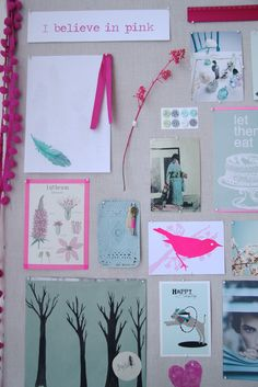 Pin up board over Ava's nightstand