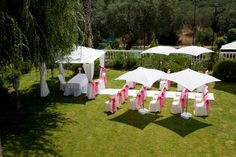 What a fabulous garden wedding set-up in the Algarve for Kirsty & Micheal Perry's wedding day this summer.