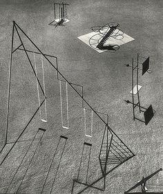 Contured Playground, Installation d'une aire de jeu dans Central Park à New York City. 1941 - projet non réalisé