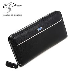 Kangaroo Kingdom Men Wallets Genuine Leather Long Wallet Male Clutch Bags Brand Purse ** AliExpress Affiliate's Pin.  Click the VISIT button to enter the AliExpress website