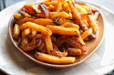 Butternut Squash Fries - Boil 8 mins each top and bottom of squash before attempting to peal