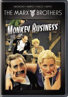 Marx Brothers Monkey Business movie poster.