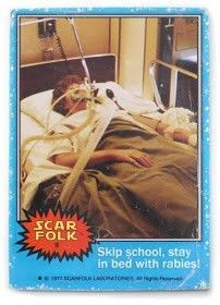 """""""Skip school, stay in bed with rabies"""" by Scarfolk"""
